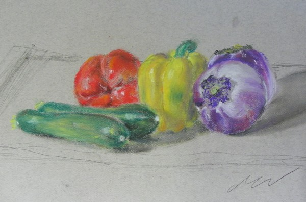 mark vegetables drawing holiday